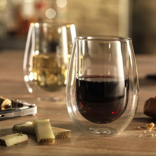 2 copos parede dupla vinho branco drink sucos 296ml zwilling