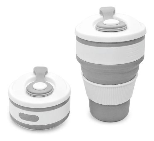 2 copos silicone retrátil dobrável ecológico + 2 kits canudo