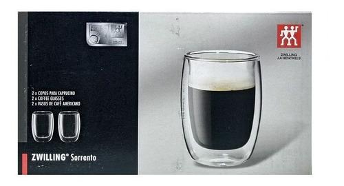 2 copos vidro parede dupla espresso 80ml zwilling sorrento