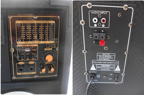 2 cornetas amplificada 8000 watts casa o locales comerciales
