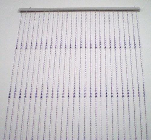 2 cortina de miçanga contas acrilicas lilás