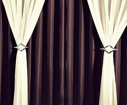 2 cortinas igreja salão festa 7 metros forro e voil clássica