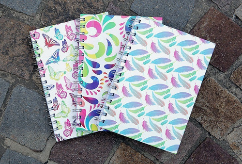 2 cuadernos rayados tapa dura 15 cm x 21 cm 80 hojas