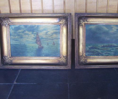 2 cuadros antiguos sin firma , en buen estado