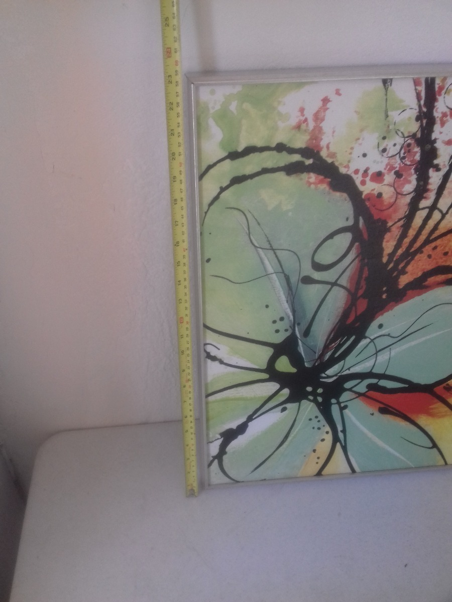 2 cuadros arte moderno flores coloridas juveniles 1 en mercado libre - Cuadros juveniles modernos ...