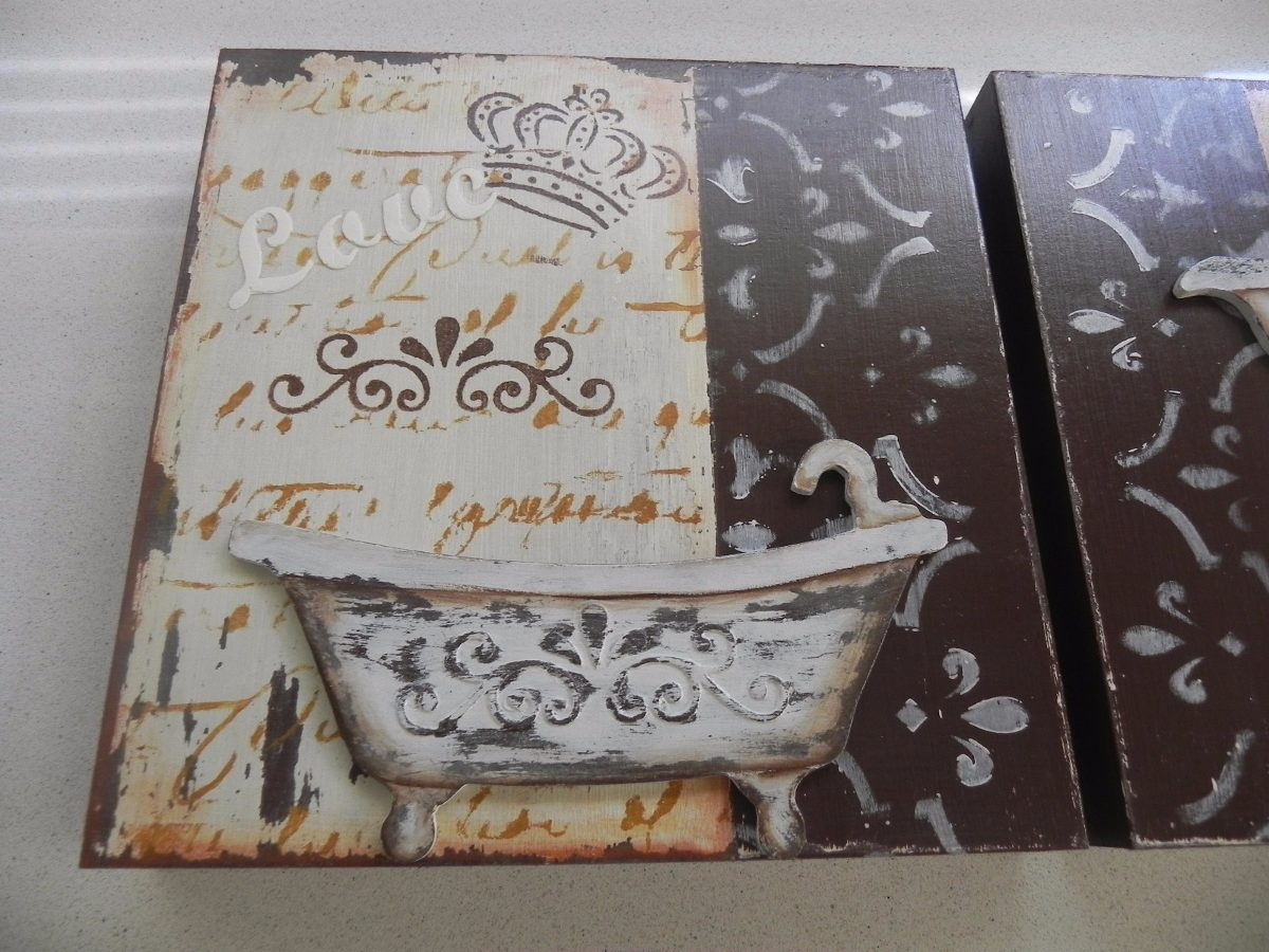 free amazing perfect fabulous cuadros vintage artesanal decoracin shabby chic bao cargando zoom with cuadros vintage chic with bao shabby chic with baos - Baos Vintage