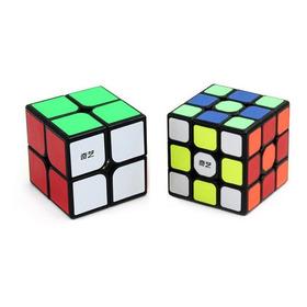 2 Cubos Speed Rubik Qiyi: Qidi 2x2 + Sail 3x3 Fondo Negro