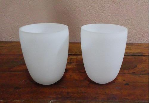 2 cupula tulipa branca fosca
