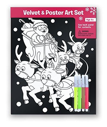 2 De Terciopelo De Navidad Para Colorear Arte Pósters Con 4 ...