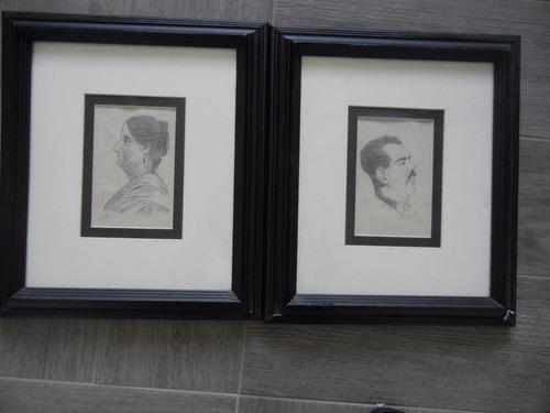 2.- dibujos originales 1934 lázaro cárdenas y josefa ortiz