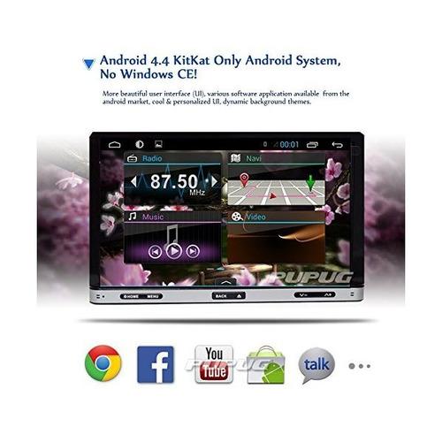 2-din 7 pulgadas estéreo del coche de la pantalla táctil del