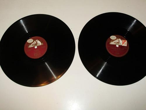 2 disco pasta paul robeson 10'' master's voice england 78rpm