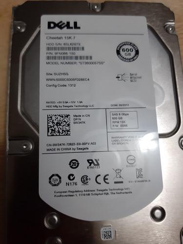 2 discos duros dell 600gb sas 15k st3600057ss np 9fn066-150