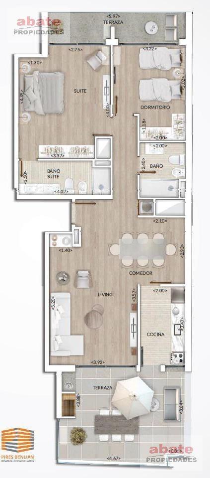 2 dormitorios   26 de marzo al 3400