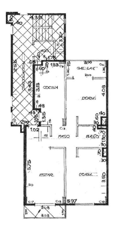 2 dormitorios   cocina separada