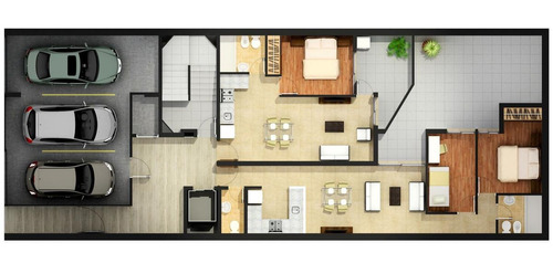 2 dormitorios en barrio echesortu