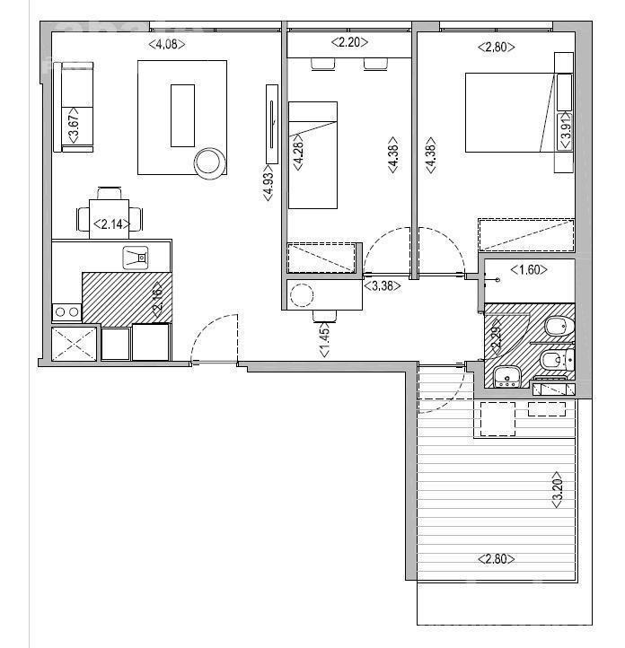 2 dormitorios | maldonado al 800