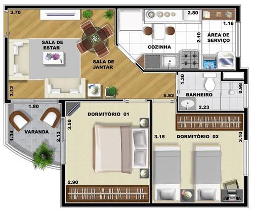 2 dormitórios no centro de são bernardo
