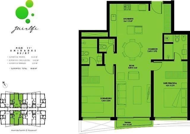 2 dormitorios | roosevelt, franklin