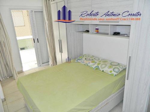 2 dormitórios sendo 1 suite prédio com lazer perto da praia - ap0924