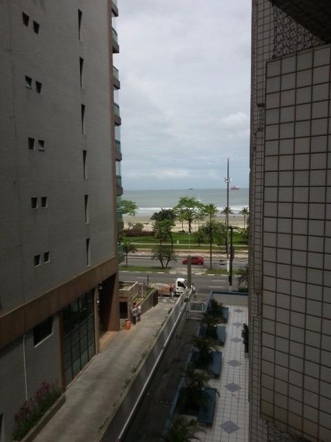 2 dorms varanda vista mar avenida praia