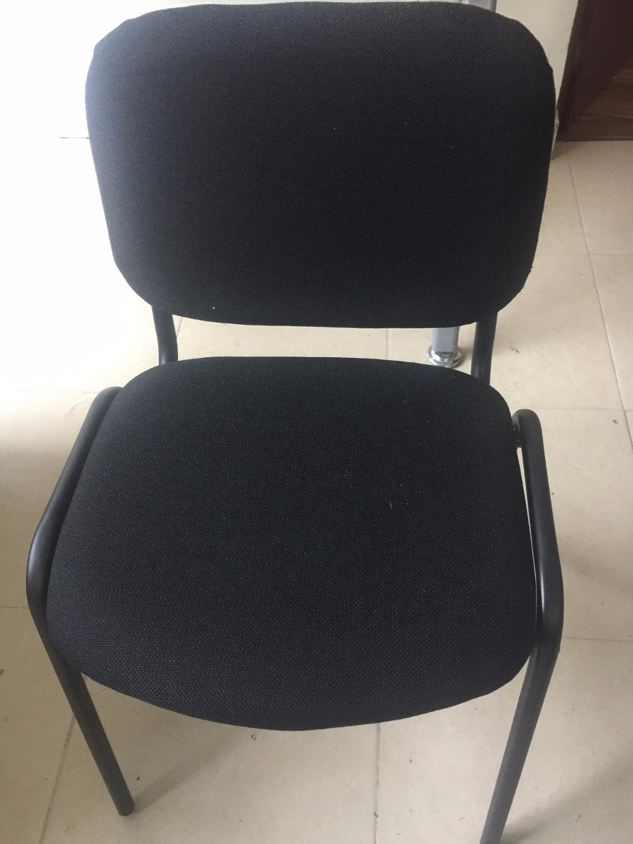 2 dos sillas de visita economica tela o vinil envio s for Sillas economicas