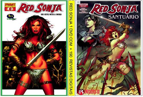 2 dvds - coleção hq red sonja c/+ de 280 revistas digitaliza