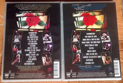 2 dvd's guns n' roses use your illusion - 1 & 2 - lacrados