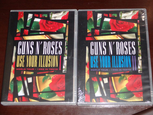2 dvds guns n' roses use your illusion vol.1&2 lacrados !