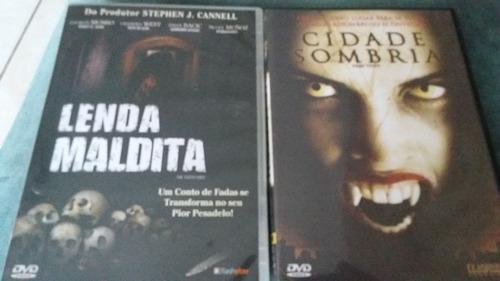 2 dvds : lenda maldita, cidade sombria