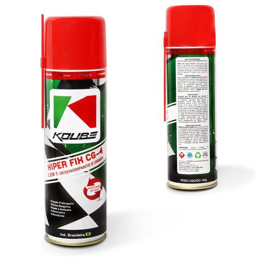 2 em 1 desemgripante lubrificante hiper fix cg-4 spray 200ml