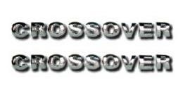 2 emblemas crossover saveiro 2 unidades + brinde