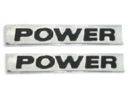 2 emblemas power 2 un. + brinde gol golf voyage frete grátis