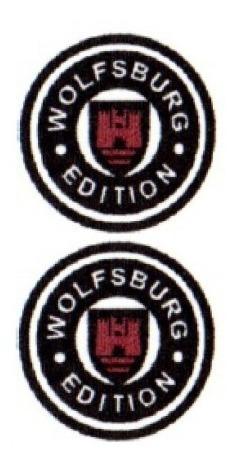 2 emblemas wolfsburg resinado logus + brinde