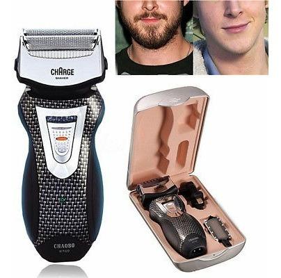 2 en 1 hombres afeitadora eléctrica inalámbrica recargable