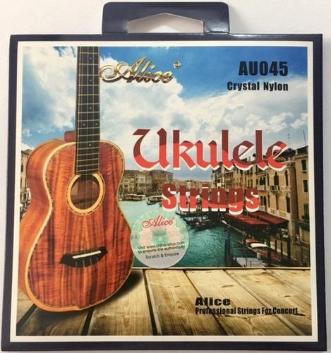 2 encordados ukulele tenor alice au045 cuerdas nylon
