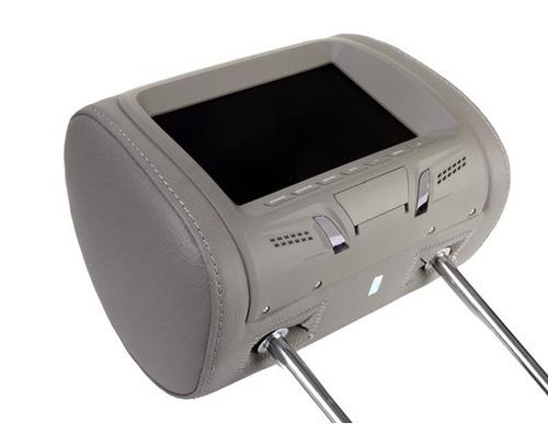 2 encosto de cabeça c/ tela lcd 7 monitor c/ 2 controles