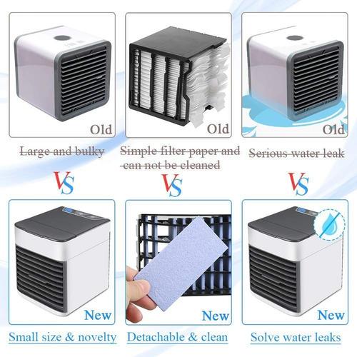 2 enfriador mini aire portátil acondicionado ventilador