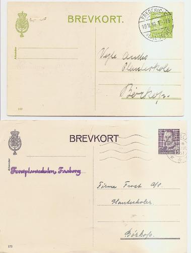 2 enteros postales de dinamarca