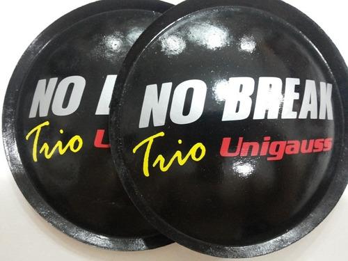 2- escudo protetor p/ falante unigauss nobreak trio 135mm