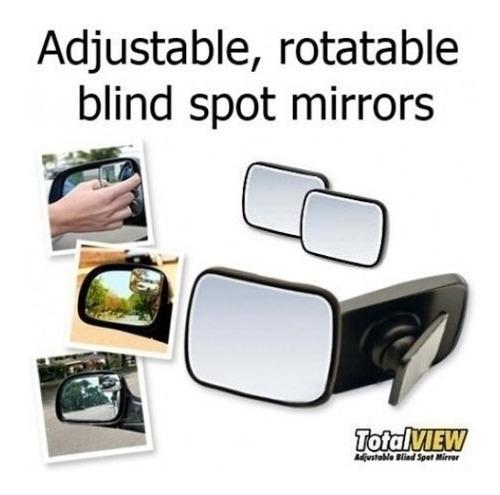 2 espejos de aumento de visión para carros  total view