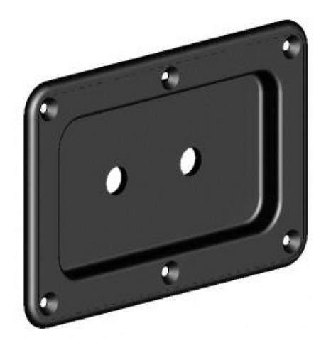 2 espelhos p/ conector jack p10 2 furos