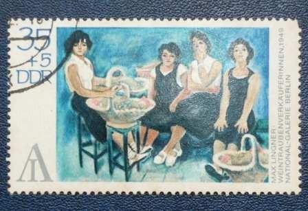 2 estampillas stamps 20 30+5 alemania ddr rda museum berlin