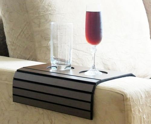 2 esteira braço sofá porta copo flexível bandeja tabaco