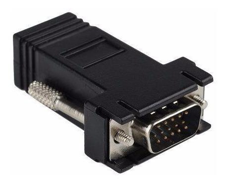 2 extension vga por cable rj45 red adaptador 38 mts el par