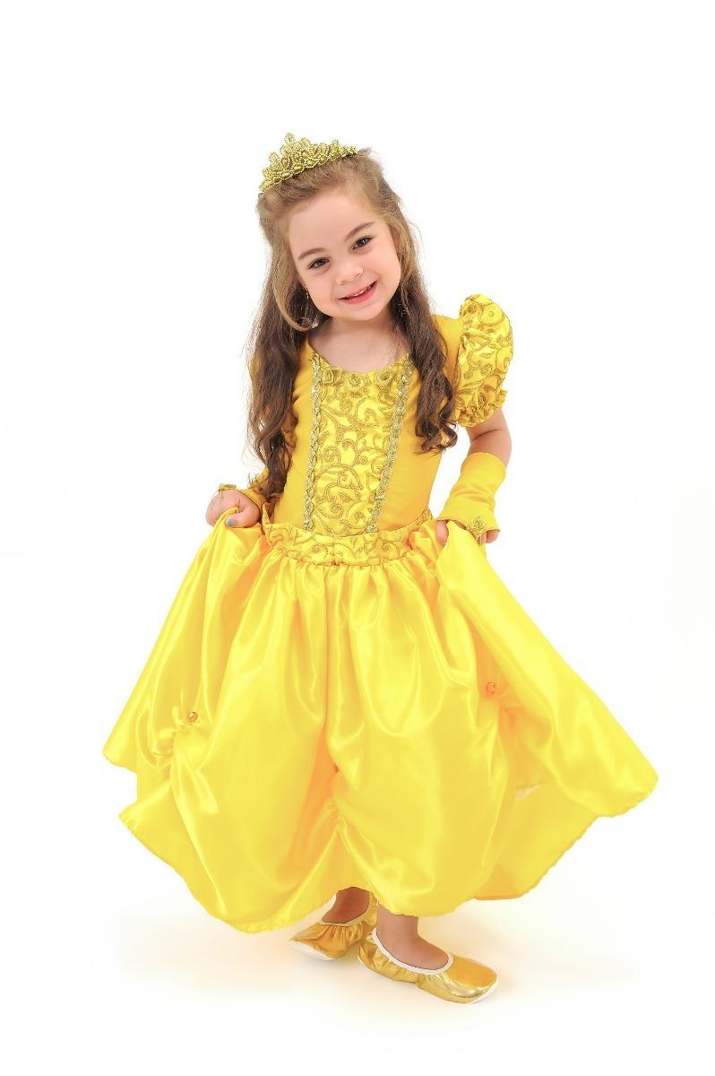 a8659eb4b15e19 2 Fantasias Infantil Princesa Luxo P/ Meninas Vários Modelos