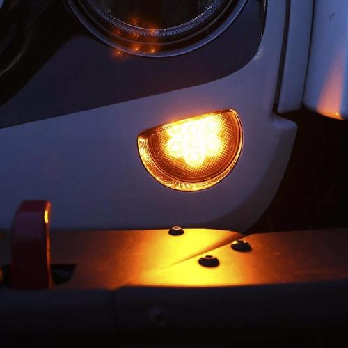 2 farol seta pisca lateral led smoke ambar jeep wrangler