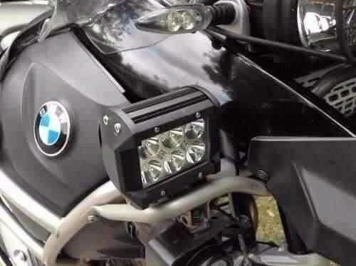 2 faros auxiliares 6 led cree 18w más switch moto lo mejor