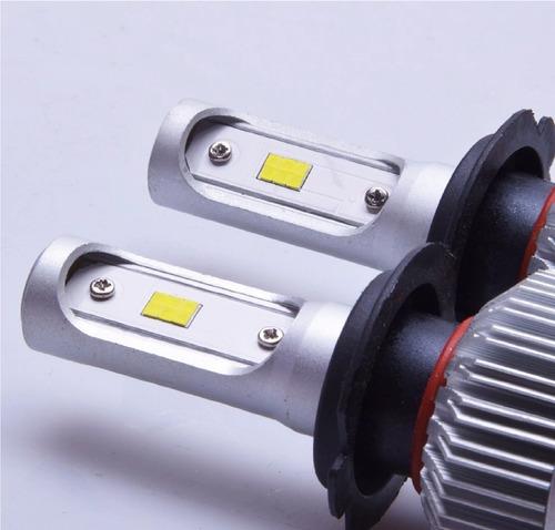 2 faros focos hiper led chip csp t/xenon h4 9007 h13 8000 lm