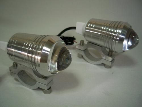 2 faros led (alta potencia) ideales para moto auto camioneta